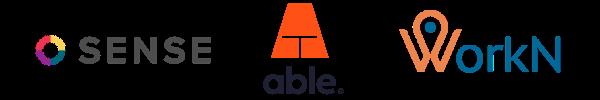logos - sense, able, workn